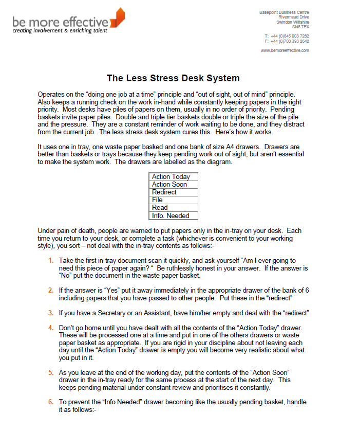 The Less Stress Desk System